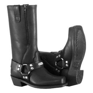 River Road Women's Square Toe Zipper Harness Boots