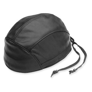 River Road Leather Skull Cap With Drawstring