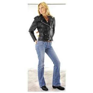 River Road Women's Basic Leather Jacket
