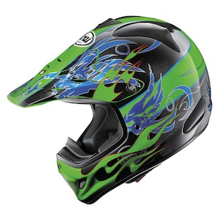 Arai VX-Pro 3 Wing Flame Helmet (Color: Green / Size: XS)