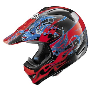 Arai VX-Pro 3 Wing Flame Helmet (Color: Red / Size: XS)