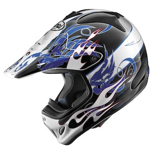Arai VX-Pro 3 Wing Flame Helmet (Color: White/Blue / Size: XS)