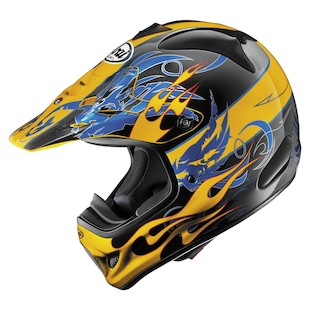 Arai VX-Pro 3 Wing Flame Helmet (Color: Yellow / Size: SM)