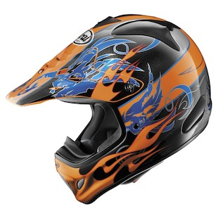 Arai VX-Pro 3 Wing Flame Helmet (Color: Orange / Size: XS)