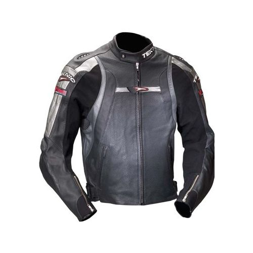 Teknic Violator Leather Jacket 2007 Silver Black zoom?1235145555