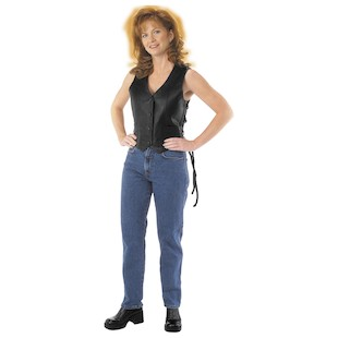 River Road Women's Basic Leather Vest