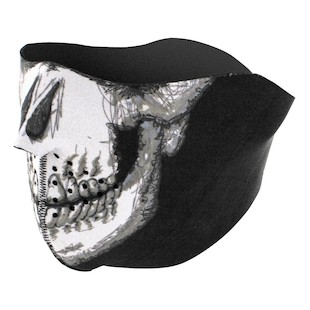 Zan's Skull Face Neoprene Half Mask *Glow in the Dark*