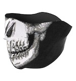 Zan's Glow in the Dark Skull Face Neoprene Half Mask