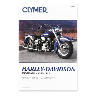 Clymer Manual Harley-Davidson Panheads 1948-1965 Clymer motorcycle repair manuals are written specifically for the do-it-yourself enthusiast. From basic maintenance to troubleshooting to complete overhaul, Clymer manuals provide the information you need. The most important tool in your tool box may be your Clymer manual, get one today. Covers all Pans! Note: It is always important to consult multiple sources with any questions when attempting to repair your own bike. Breaking things saves neither time or money!