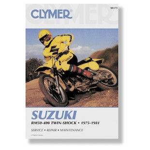 Clymer Manual Suzuki RM50 - 400 Twin Shock 75-81