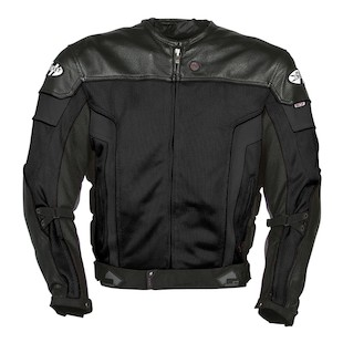 Joe Rocket Reactor 20 Leather Jacket Black Black Gunmetal detail