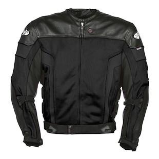 Joe Rocket Reactor 20 Leather Jacket Black Black Gunmetal detail