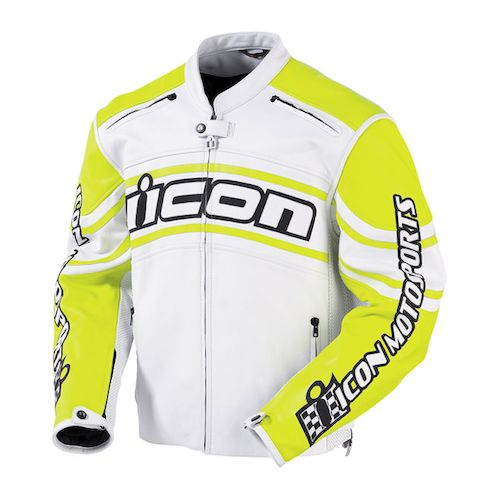 Icon Daytona Leather Jacket Canary zoom
