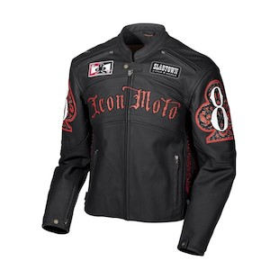 Icon Dead Mans Hand Leather Jacket