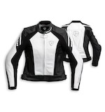 Womens White Leather Jacket