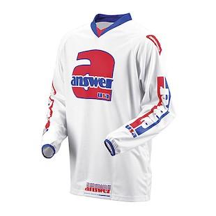 Answer Retro Jersey (Color: White / Size: 2XL)