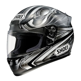 Shoei RF1000 Breakthrough Helmet Black Silver detail