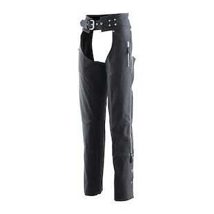 Z1R Women's Burlesque Leather Chaps