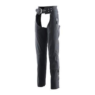 Z1R Women's Burlesque Leather Chaps