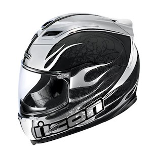 Icon Airframe Claymore Chrome Helmet