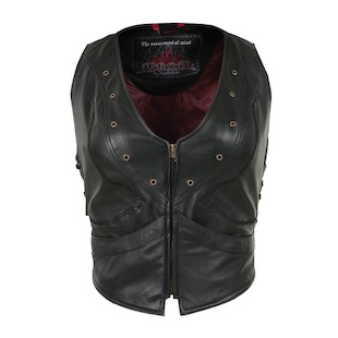 Pokerun Women's Vixen Leather Vest