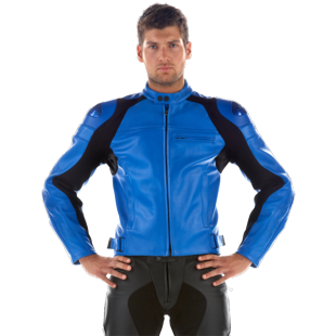 Dainese Newsan New Non-Perforated Leather Jacket (Blue / 48)