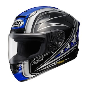 Shoei X-12 Streamliner Helmet (Black/White/Blue size LG only)