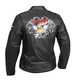 River Road Women's Angel Devil Heart Leather Jacket