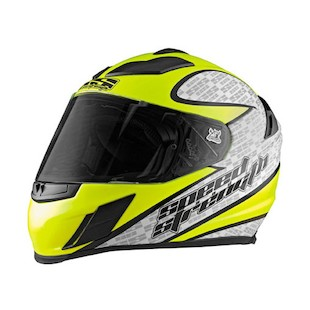 Speed and Strength SS2000 Twist of Fate Hi-Viz Helmet (Size XL Only)