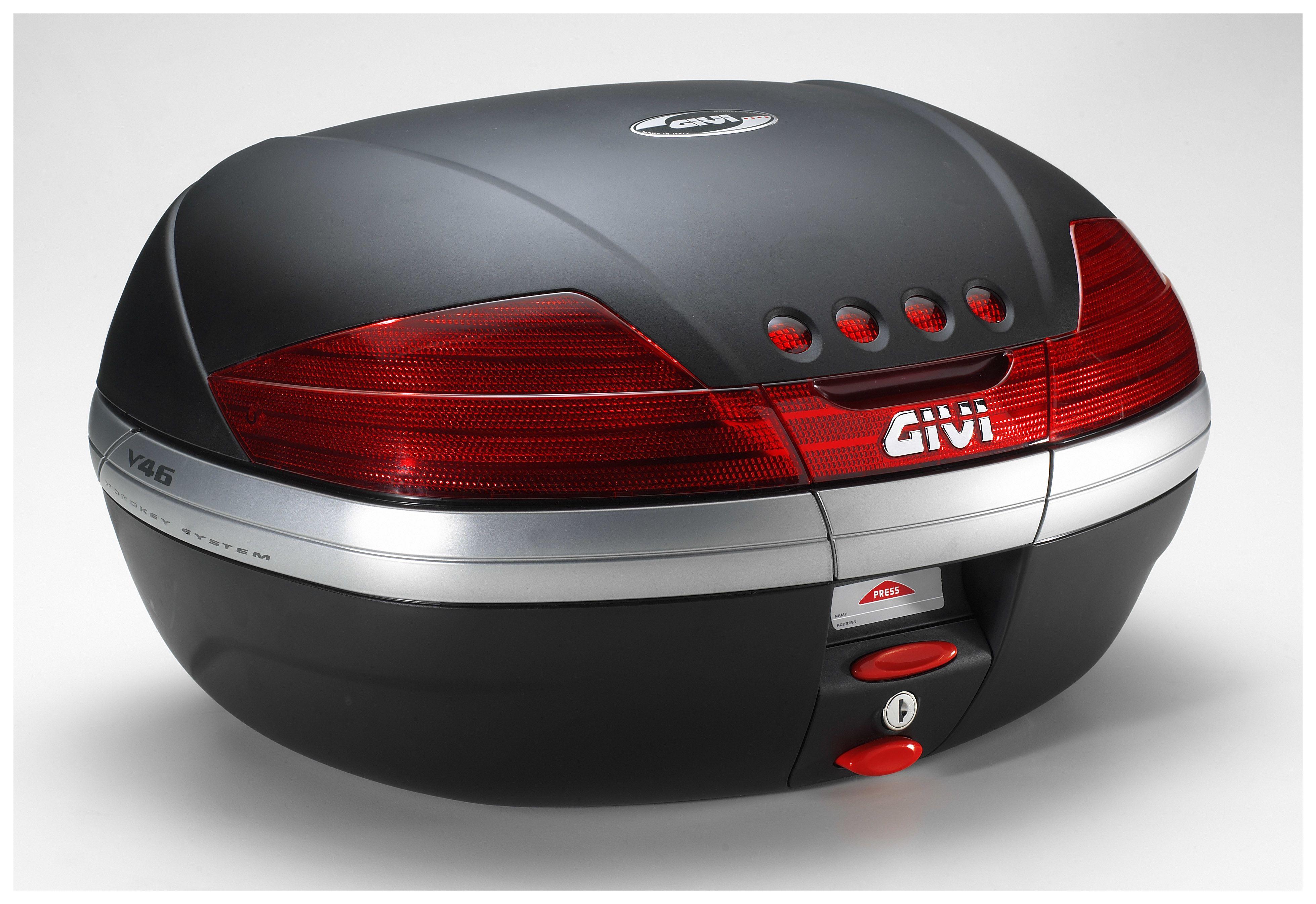 givi v56nn maxia 4 monokey topcase in carbon optik roten reflektoren. Black Bedroom Furniture Sets. Home Design Ideas