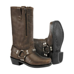 River Road Square Toe Zipper Harness Women's Boots