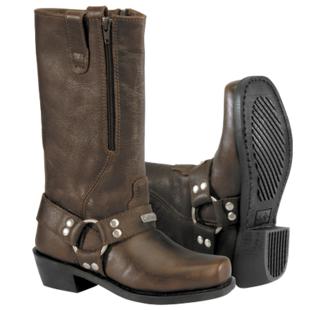 River Road Square Toe Zipper Harness Women's Boots