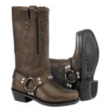 River Road Women's Square Toe Zipper Harness Boots