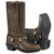River Road Women's Square Toe Zipper Harness Boots - Brown