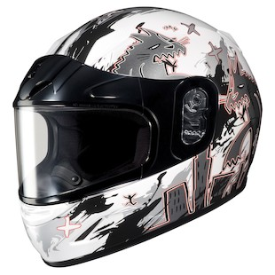 HJC CL-Y Youth KatZilla Snow Helmet - Dual Lens