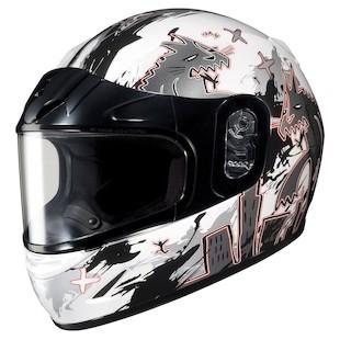 HJC CL-Y Youth KatZilla Snow Helmet - Dual Lens
