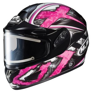 HJC CL-16 Shock Snow Helmet - Electric Shield (SM)