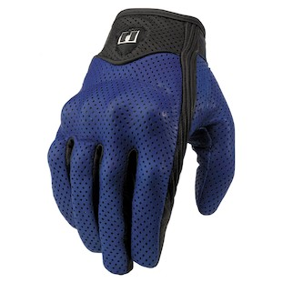 Icon Pursuit Perforated Gloves Closeout (Blue 3XL Only)