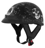 River Road Grateful Dead Skulls & Roses Helmet - Black/White