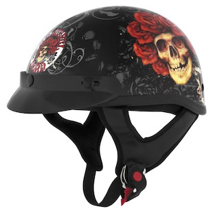 River Road Grateful Dead Skulls Roses Helmet - Color