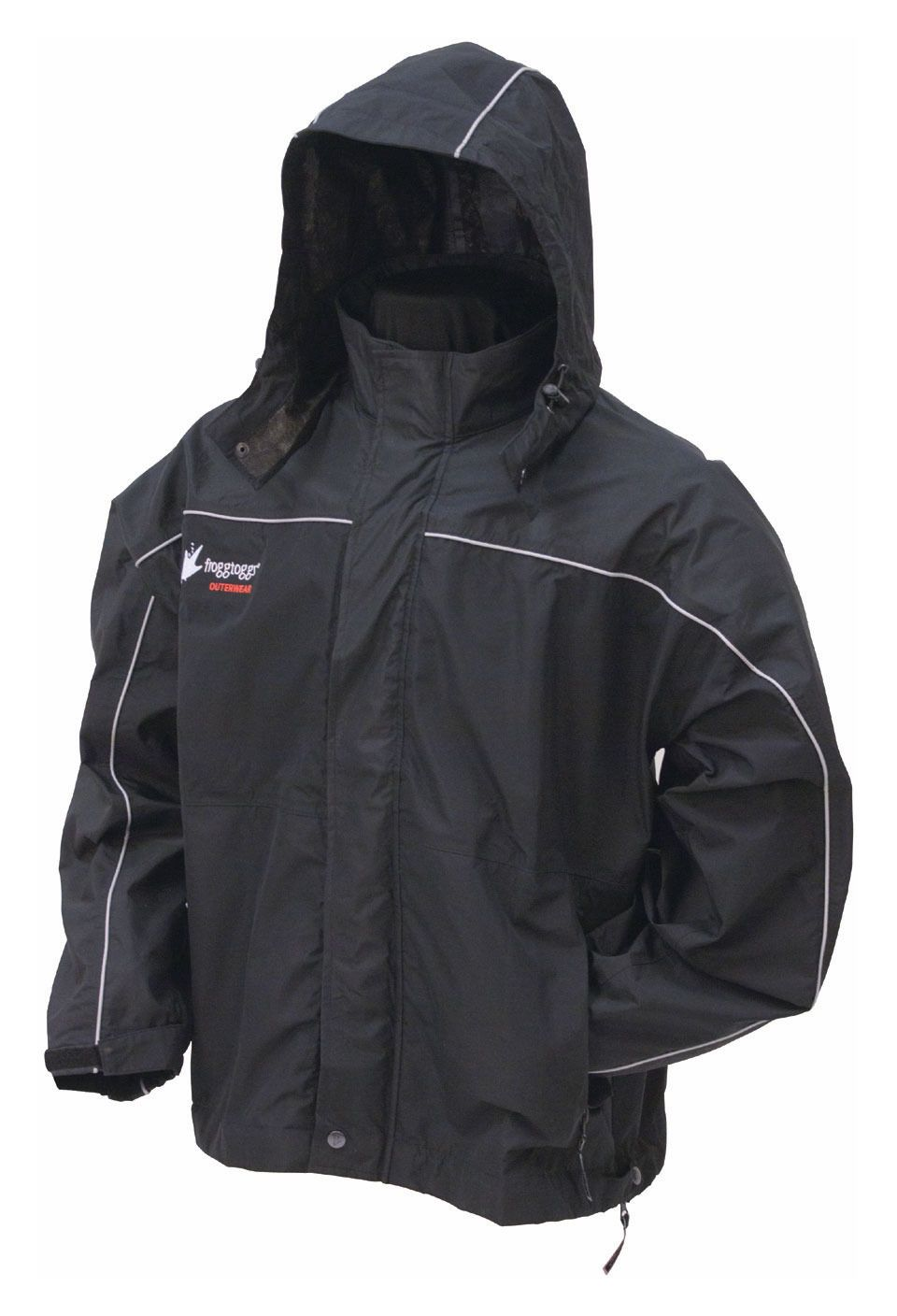 Frogg toggs highway toadz reflective jacket revzilla for Motor cycle rain gear