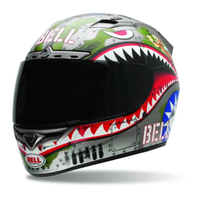 Bell Vortex Flying Tiger Helmet Size MD Only RevZilla - Motorcycle helmet decals graphicsmotorcycle helmet graphics the easy helmet upgrade