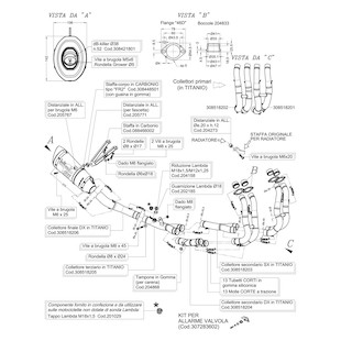 """Leo Vince Factory R """"Corsa"""" Exhaust System Suzuki GSXR600 / GSXR750 2011-2013"""