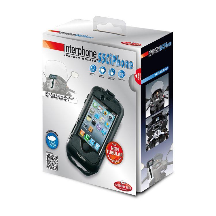 Interphone iPhone 4/4S Case for Non-Tubular Handlebars