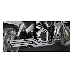 Vance & Hines Big Shots Staggered Exhaust for VTX1800C 2002-2008 & VTX1800F 2005-2008