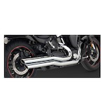 Vance & Hines Big Shots Staggered Exhaust for Road Star Warrior XV1700 2002-2008