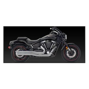 Vance & Hines Big Shots Staggered Exhaust Yamaha Road Star Warrior XV1700 2002-2009