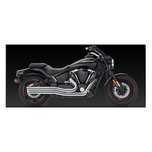 Vance & Hines Big Shots Staggered Exhaust Yamaha Road Star Warrior XV1700 2002-2009