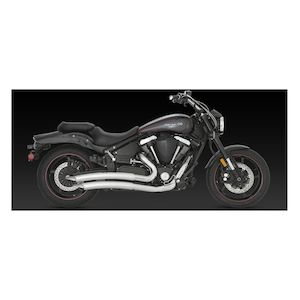 Vance & Hines Big Radius 2-Into-2 Exhaust Yamaha XV1700 Roadstar Warrior 2002-2009