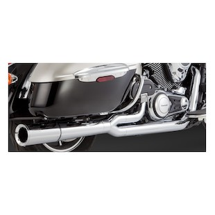 Vance & Hines Pro Pipe Chrome Exhaust for Nomad/Vaquero/Voyager VN1700 2009-2014